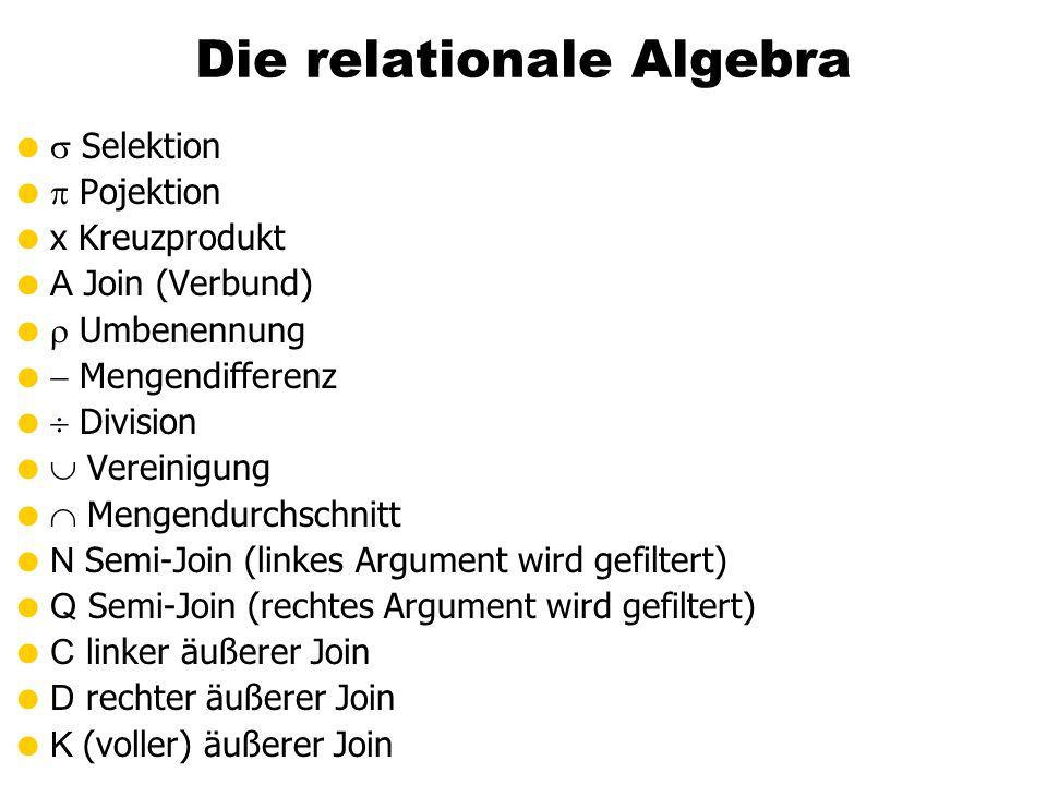 Die relationale Algebra
