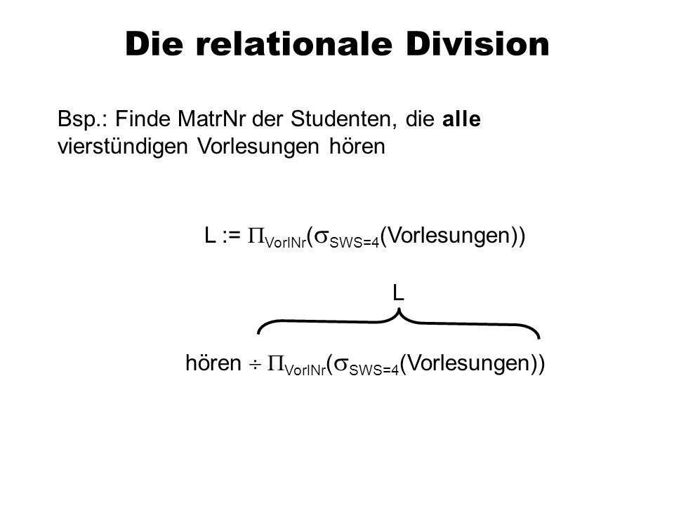 Die relationale Division