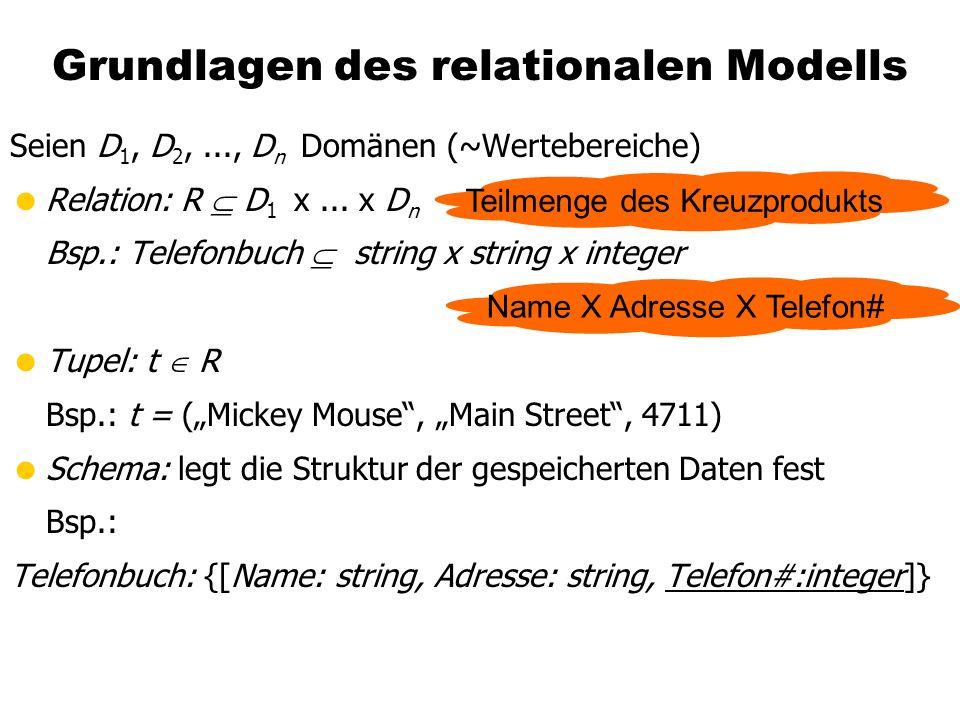 Grundlagen des relationalen Modells
