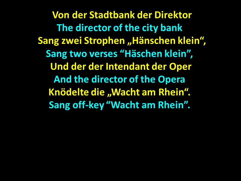 Von der Stadtbank der Direktor The director of the city bank
