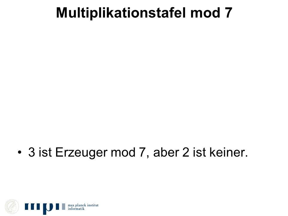 Multiplikationstafel mod 7