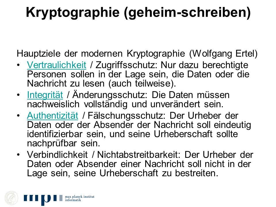 Kryptographie (geheim-schreiben)