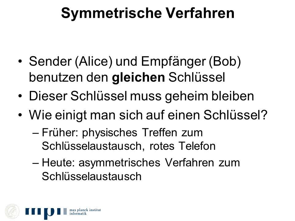 Symmetrische Verfahren