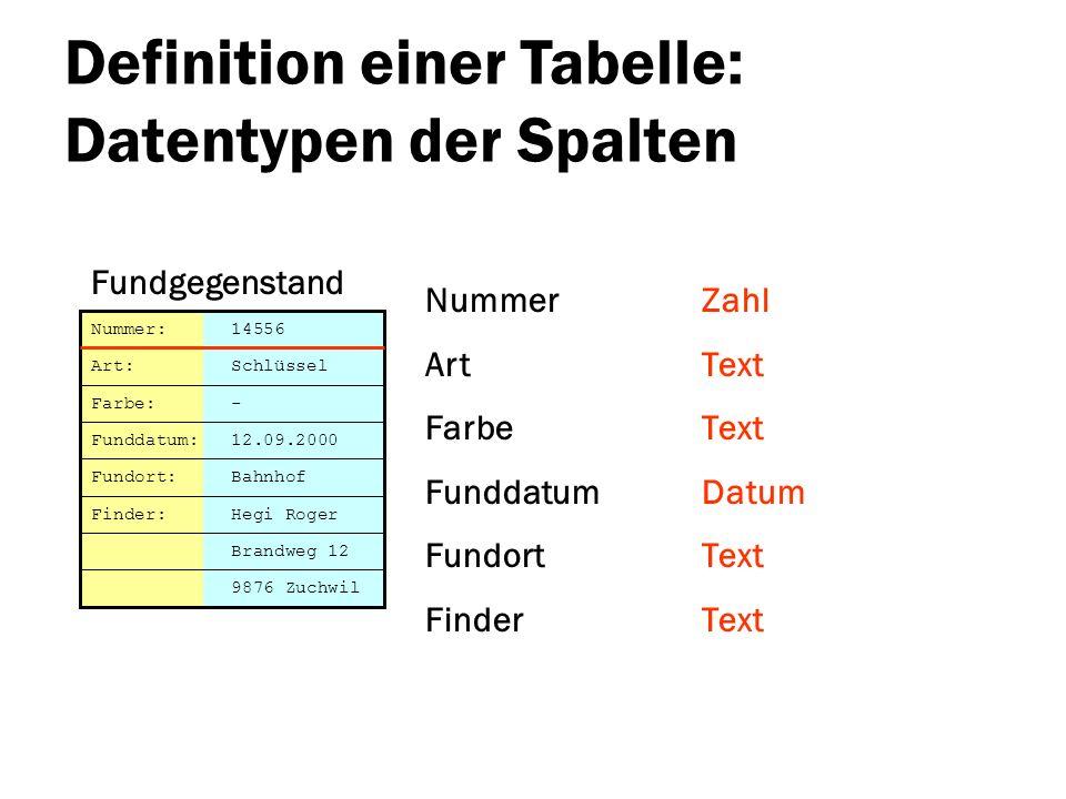 Datenbanken ppt herunterladen for Tabelle 2 spalten