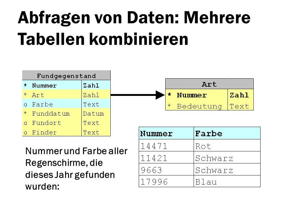 Abfragen von Daten: Mehrere Tabellen kombinieren