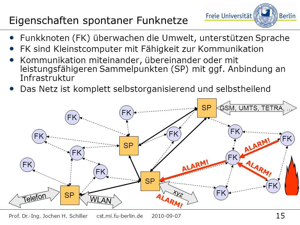 Eigenschaften spontaner Funknetze