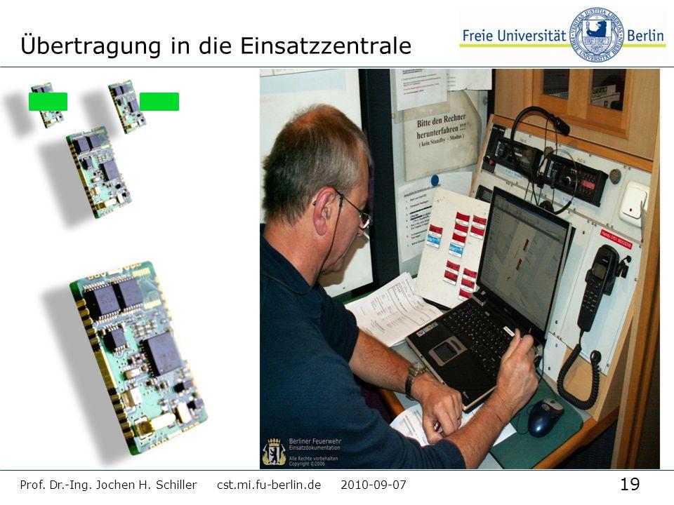 Übertragung in die Einsatzzentrale