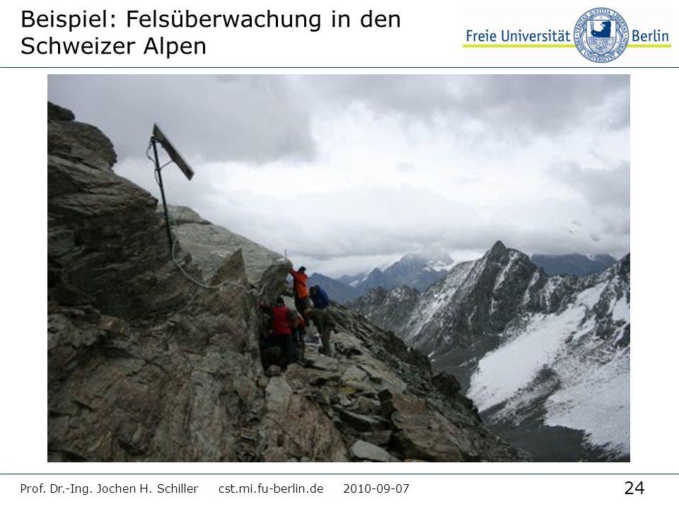Beispiel: Felsüberwachung in den Schweizer Alpen
