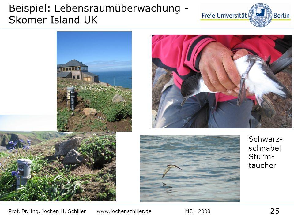 Beispiel: Lebensraumüberwachung - Skomer Island UK