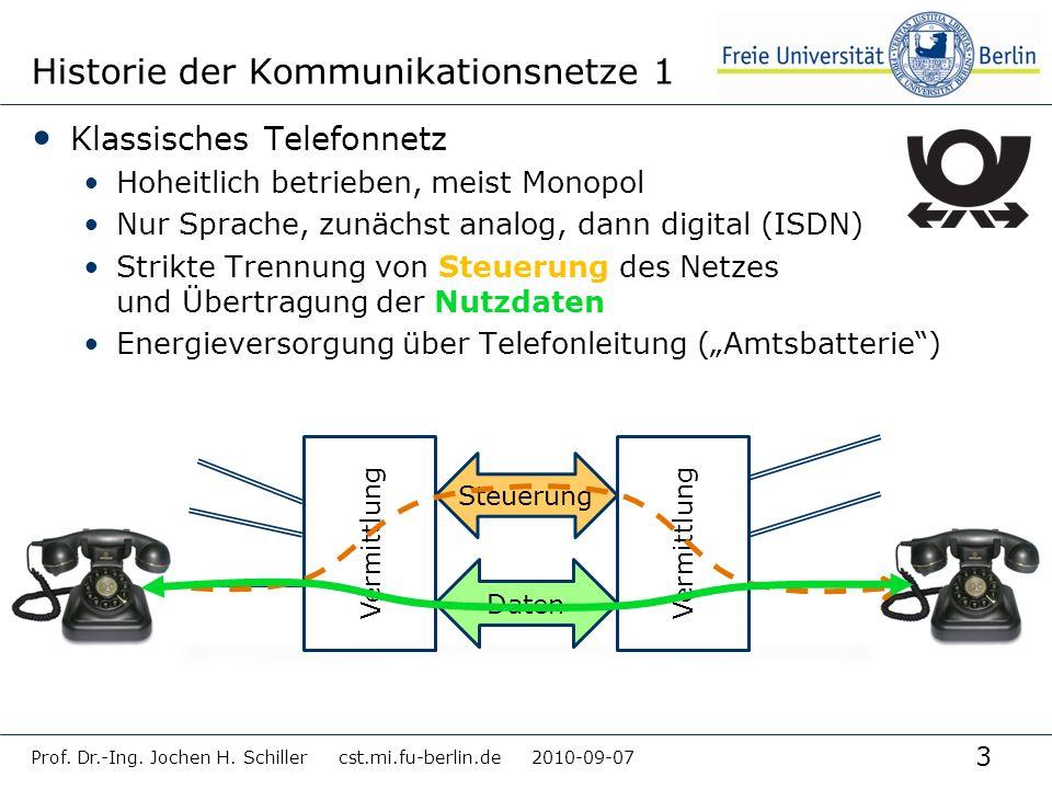 Historie der Kommunikationsnetze 1