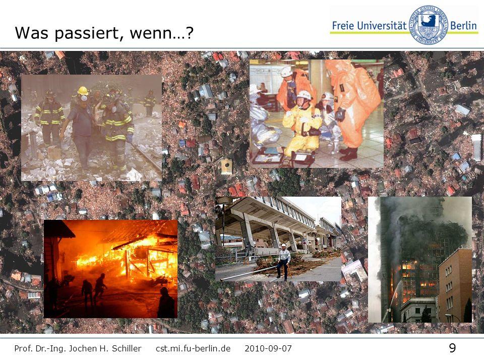 Was passiert, wenn… Prof. Dr.-Ing. Jochen H. Schiller cst.mi.fu-berlin.de 2010-09-07