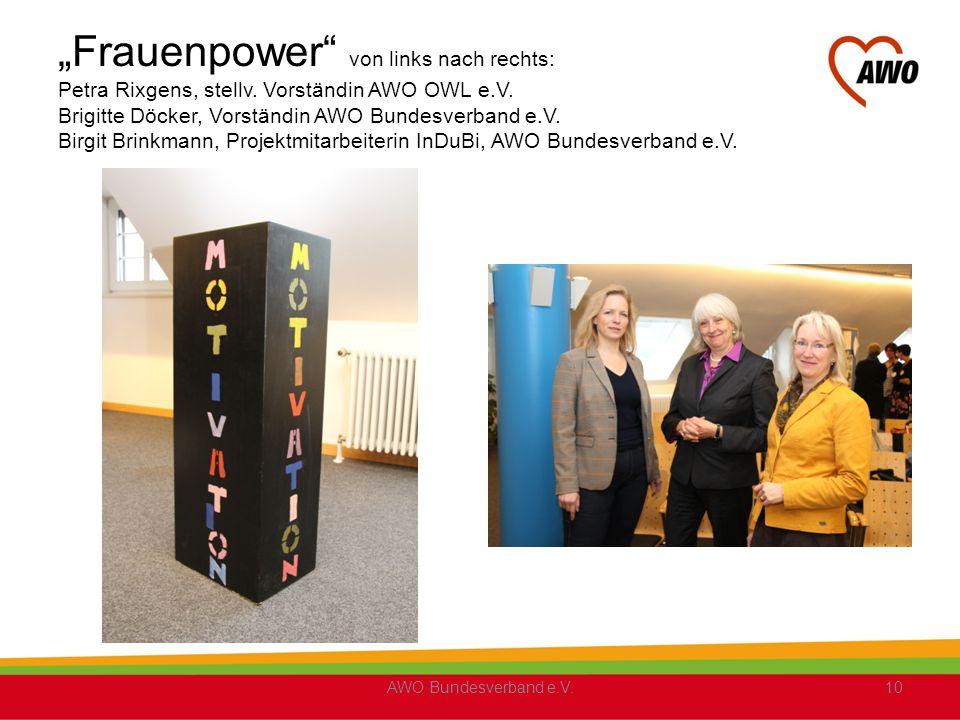 """""""Frauenpower von links nach rechts: Petra Rixgens, stellv"""