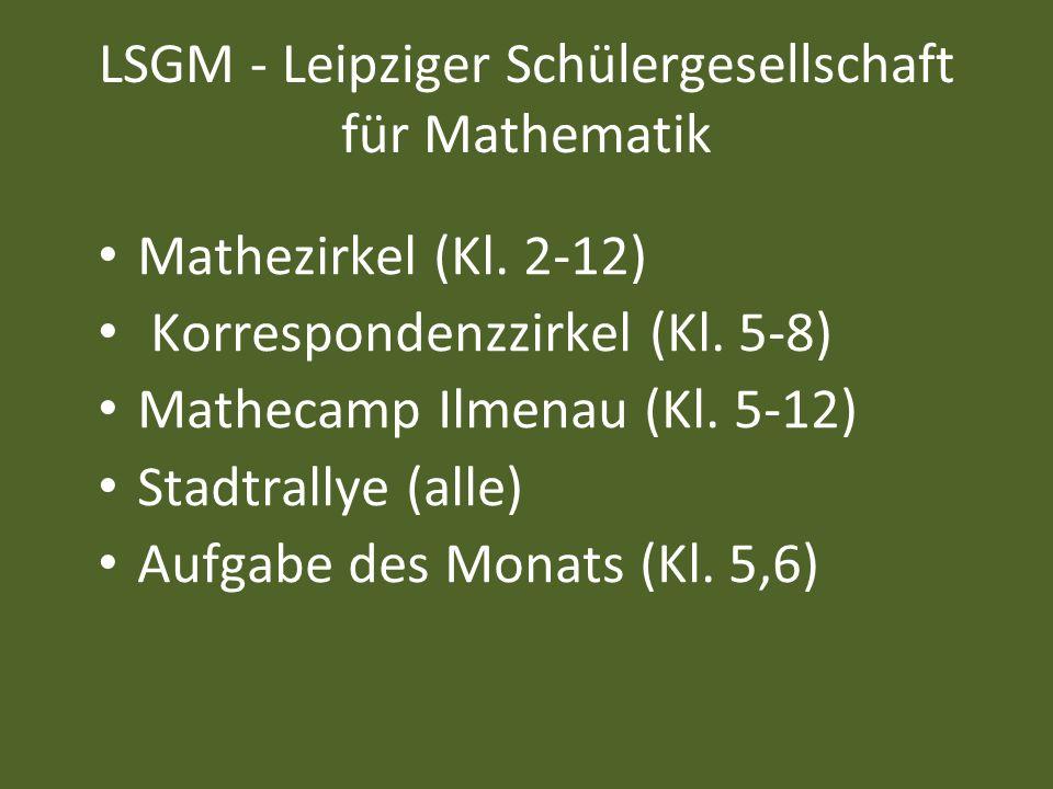 LSGM - Leipziger Schülergesellschaft für Mathematik