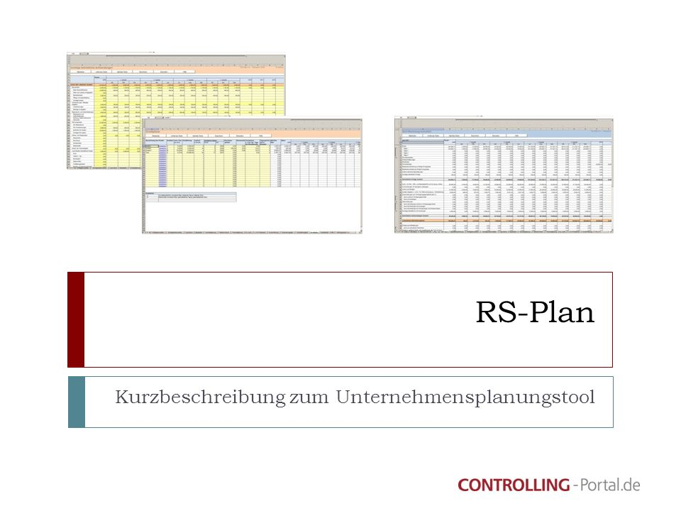 Kurzbeschreibung zum Unternehmensplanungstool