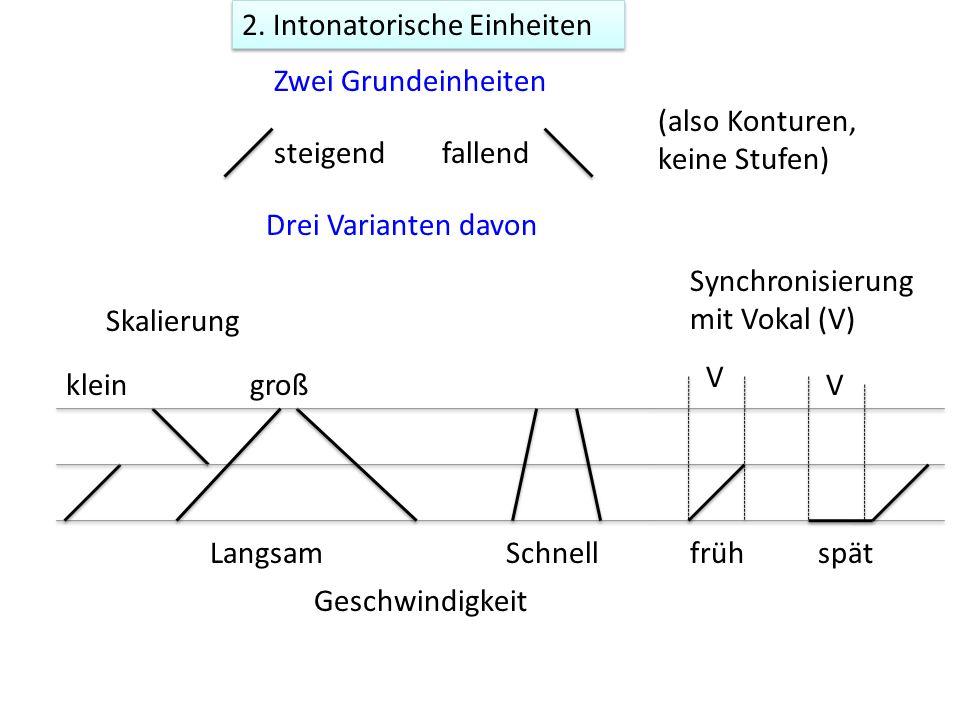 2. Intonatorische Einheiten