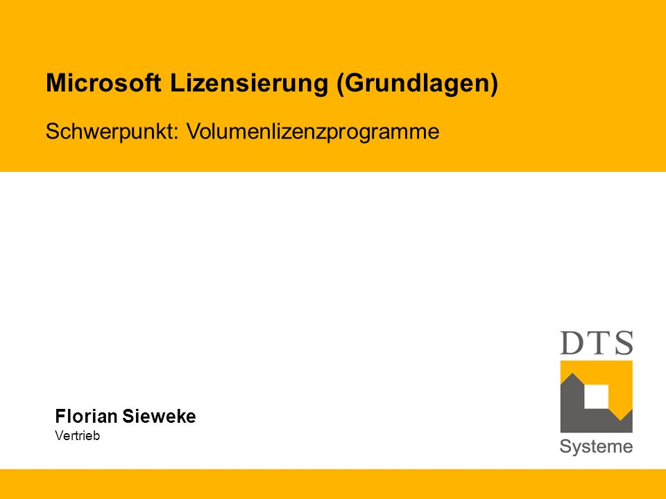 Microsoft Lizensierung (Grundlagen)