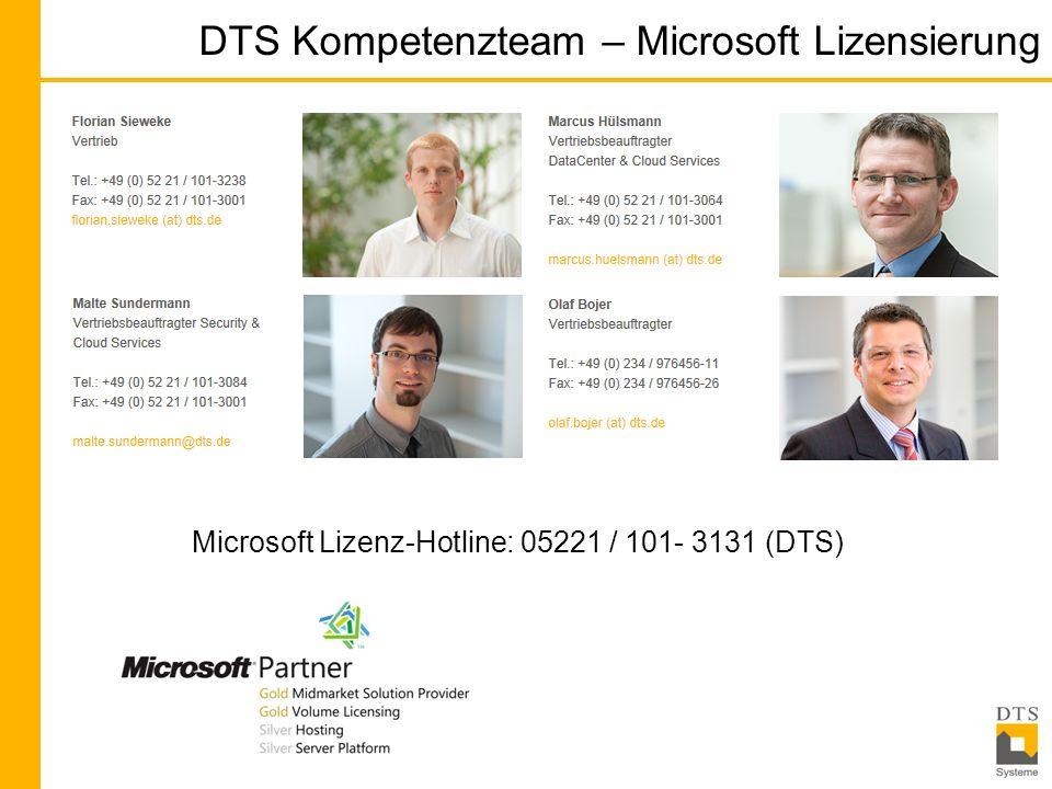 DTS Kompetenzteam – Microsoft Lizensierung