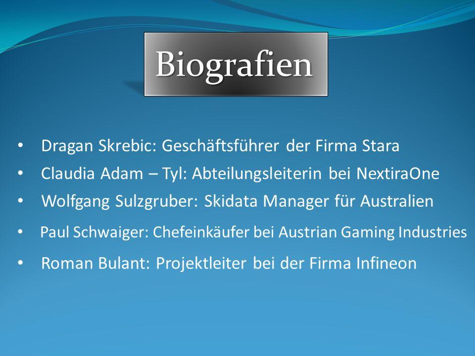 Biografien Dragan Skrebic: Geschäftsführer der Firma Stara