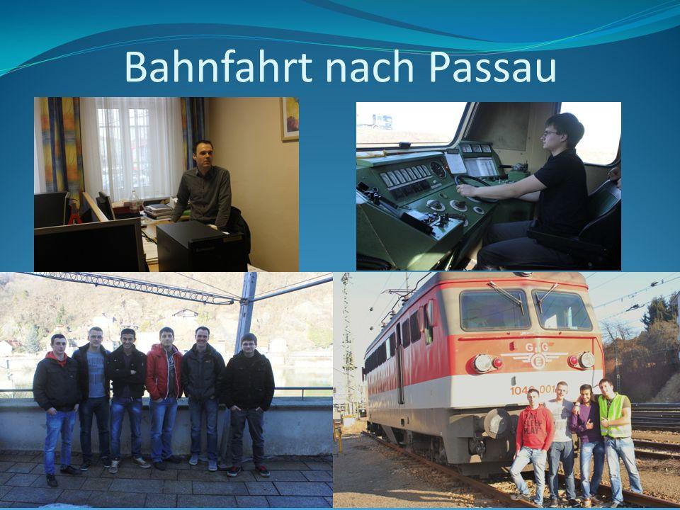 Bahnfahrt nach Passau