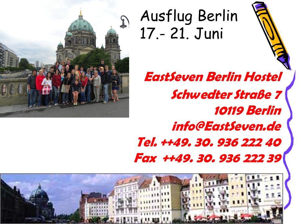 Ausflug Berlin 17.- 21. Juni