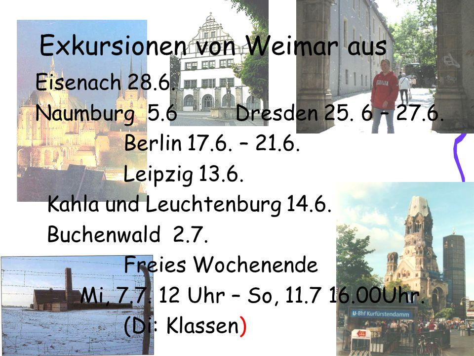 Exkursionen von Weimar aus