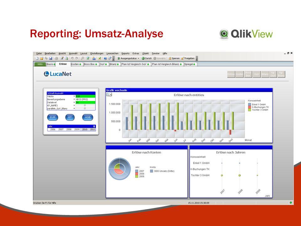 Reporting: Umsatz-Analyse