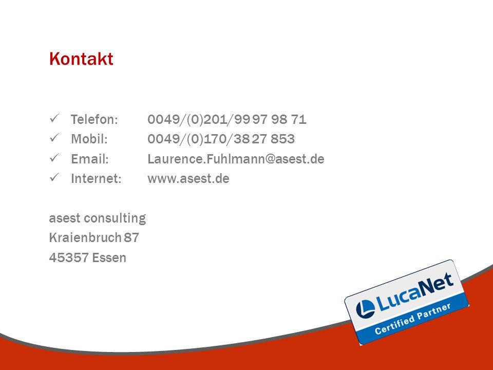 Kontakt Telefon: 0049/(0)201/99 97 98 71 Mobil: 0049/(0)170/38 27 853