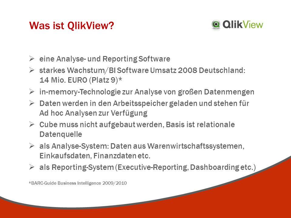 Was ist QlikView eine Analyse- und Reporting Software