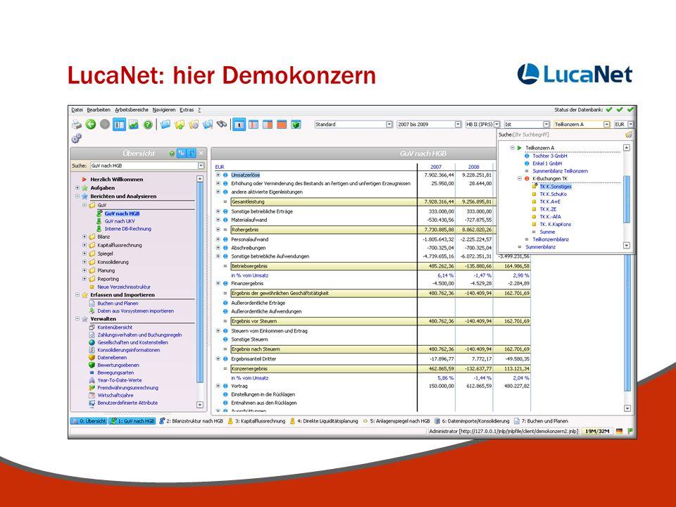 LucaNet: hier Demokonzern