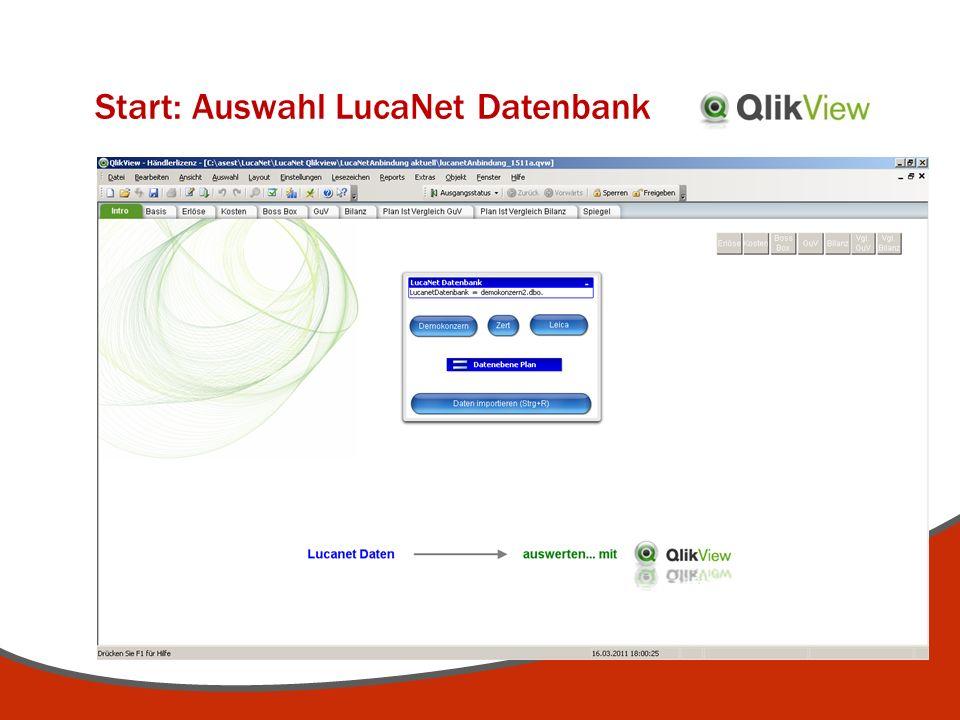 Start: Auswahl LucaNet Datenbank