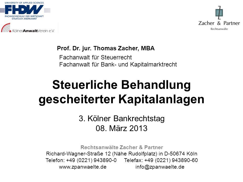 Prof. Dr. jur. Thomas Zacher, MBA