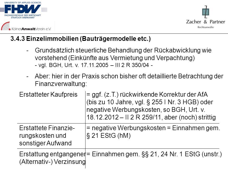 3.4.3 Einzelimmobilien (Bauträgermodelle etc.)