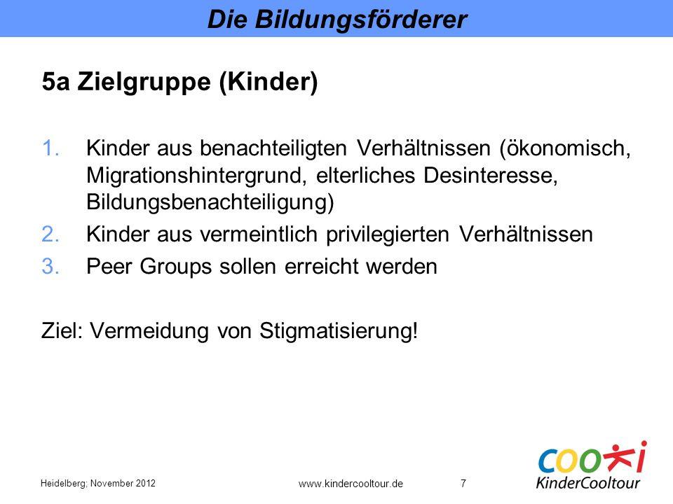 Die Bildungsförderer 5a Zielgruppe (Kinder)