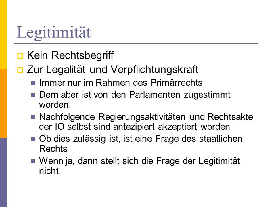 Legitimität Kein Rechtsbegriff Zur Legalität und Verpflichtungskraft