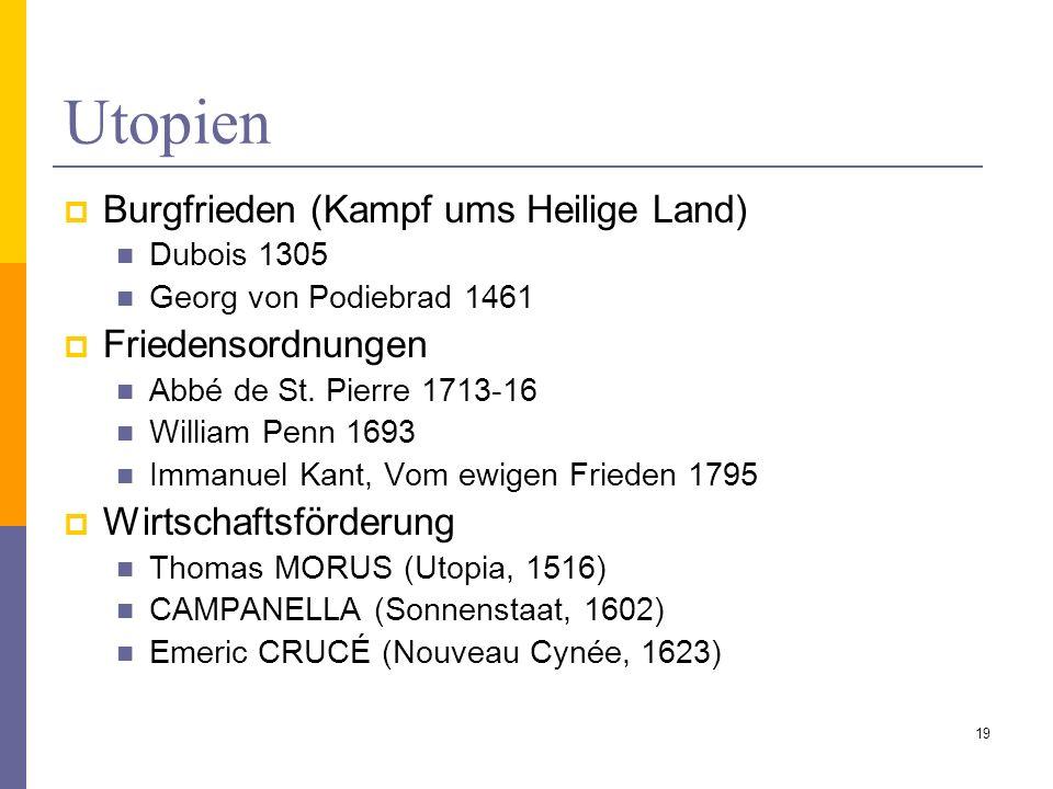 Utopien Burgfrieden (Kampf ums Heilige Land) Friedensordnungen