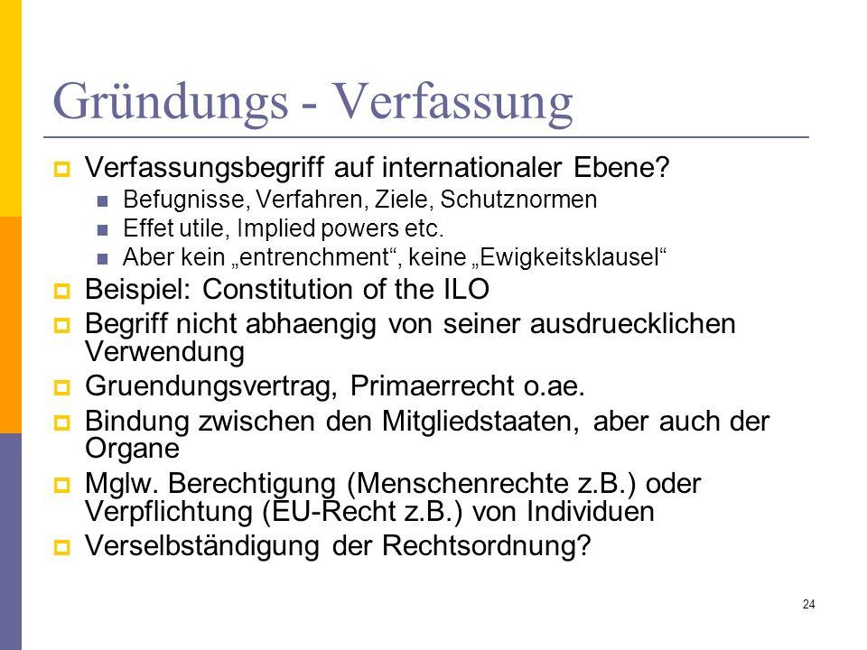 Gründungs - Verfassung