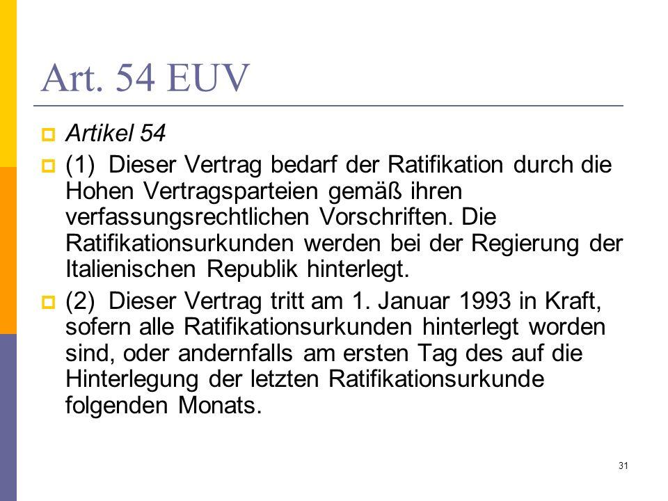 Art. 54 EUV Artikel 54.