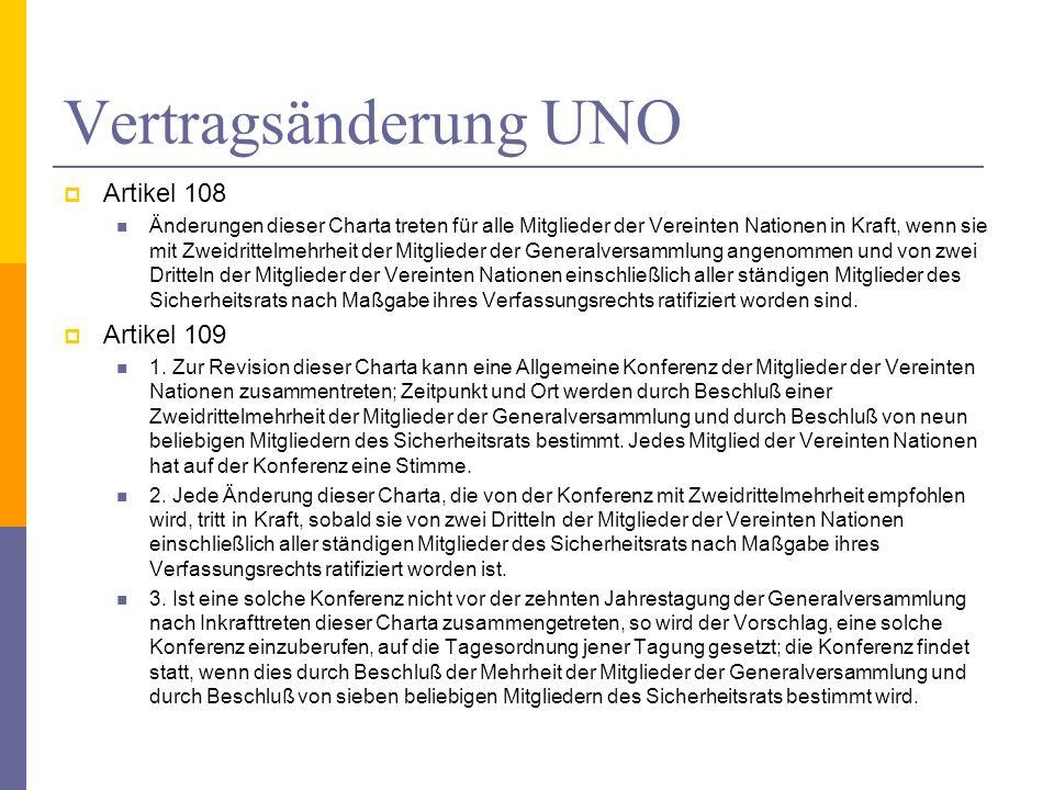 Vertragsänderung UNO Artikel 108 Artikel 109