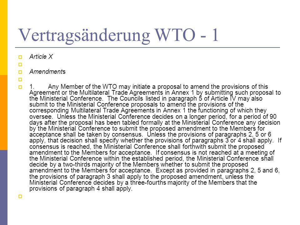 Vertragsänderung WTO - 1