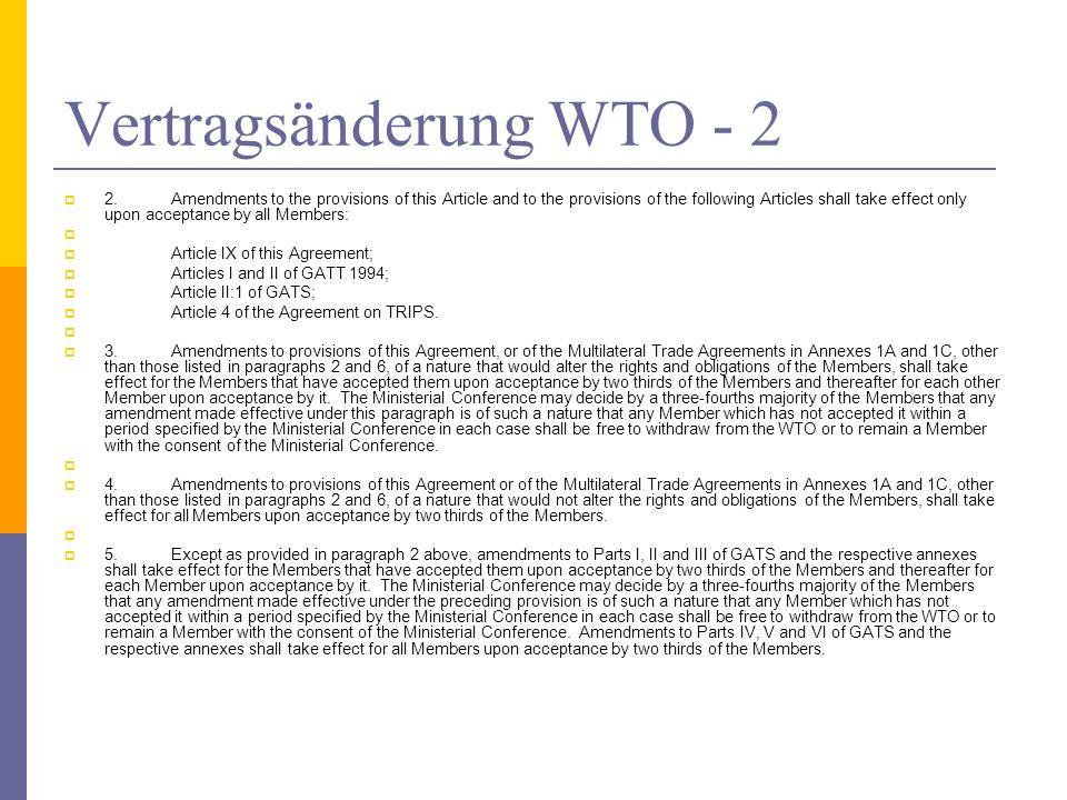 Vertragsänderung WTO - 2