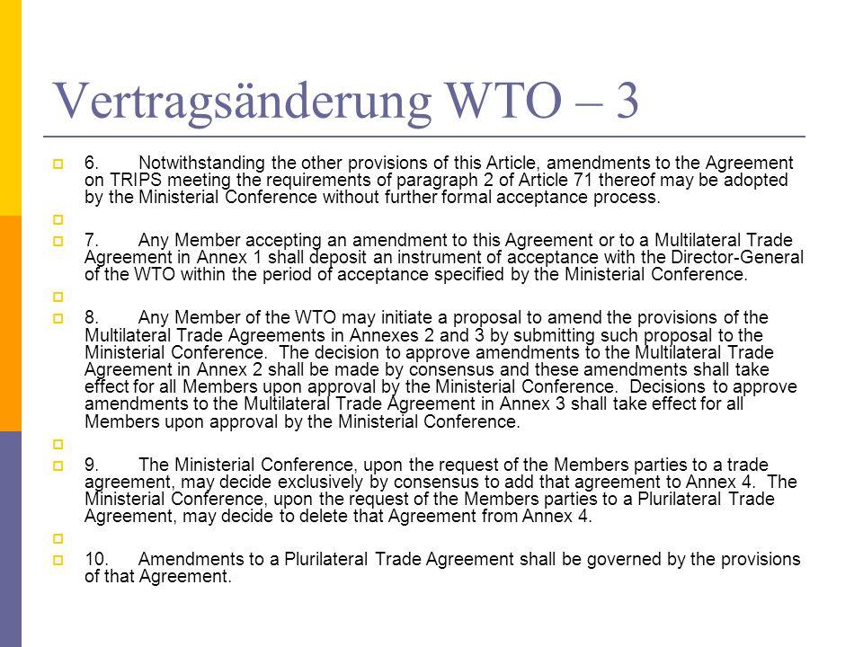 Vertragsänderung WTO – 3