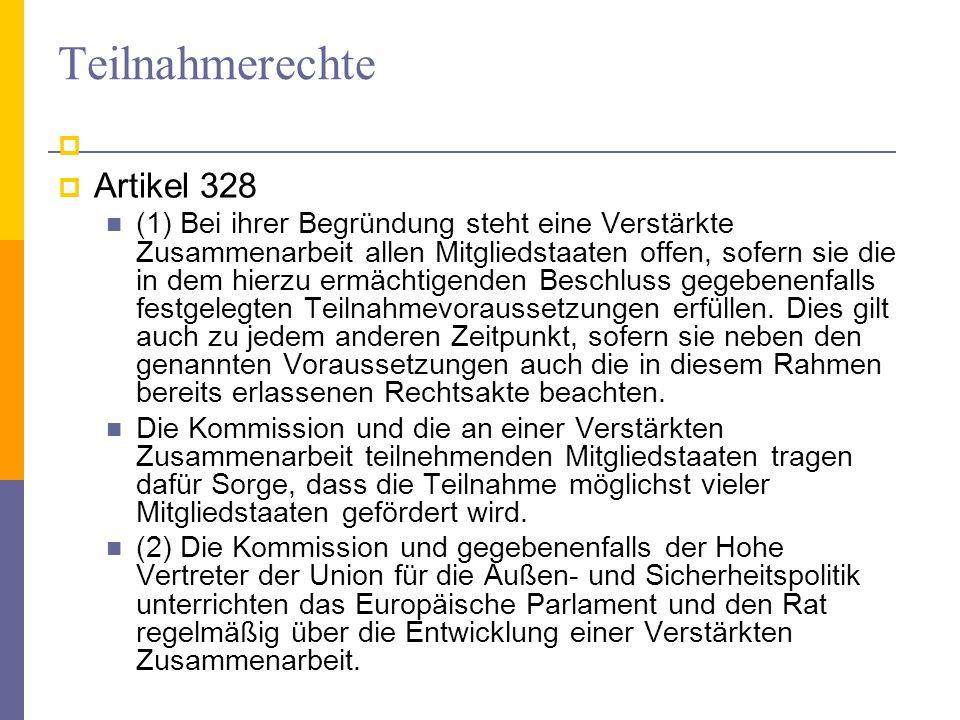 Teilnahmerechte Artikel 328