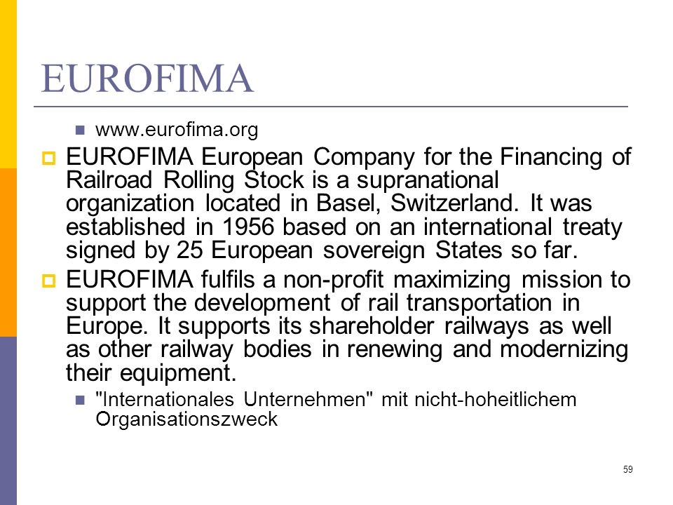 EUROFIMA www.eurofima.org.
