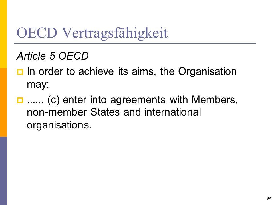 OECD Vertragsfähigkeit