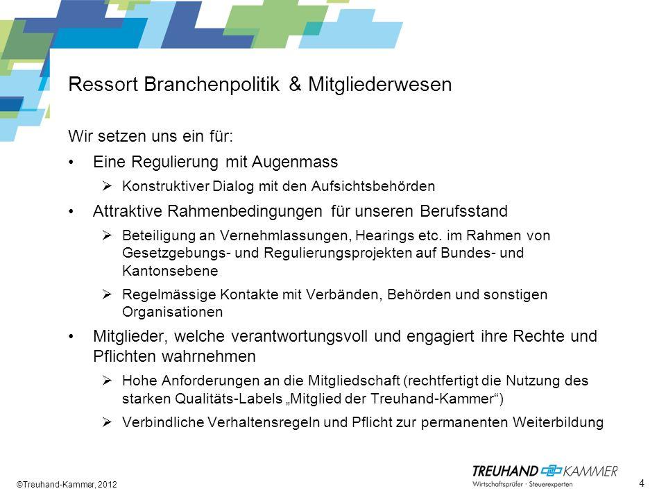 Ressort Branchenpolitik & Mitgliederwesen
