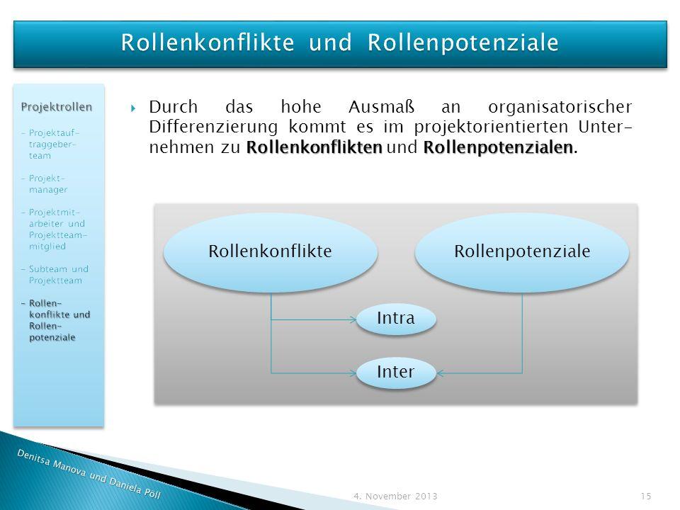 Rollenkonflikte und Rollenpotenziale