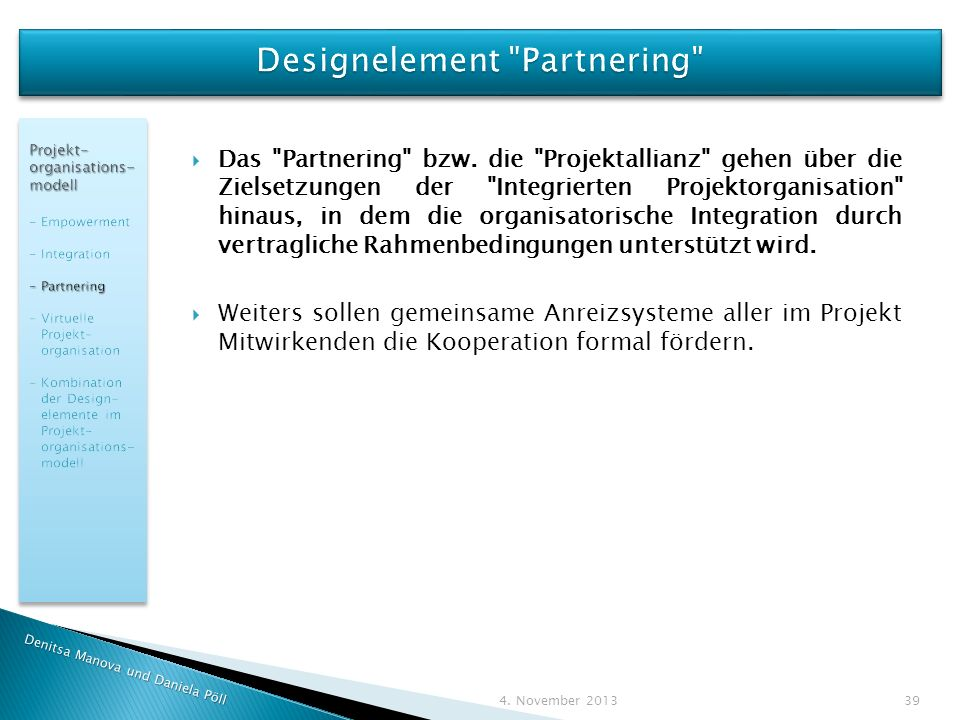 Designelement Partnering