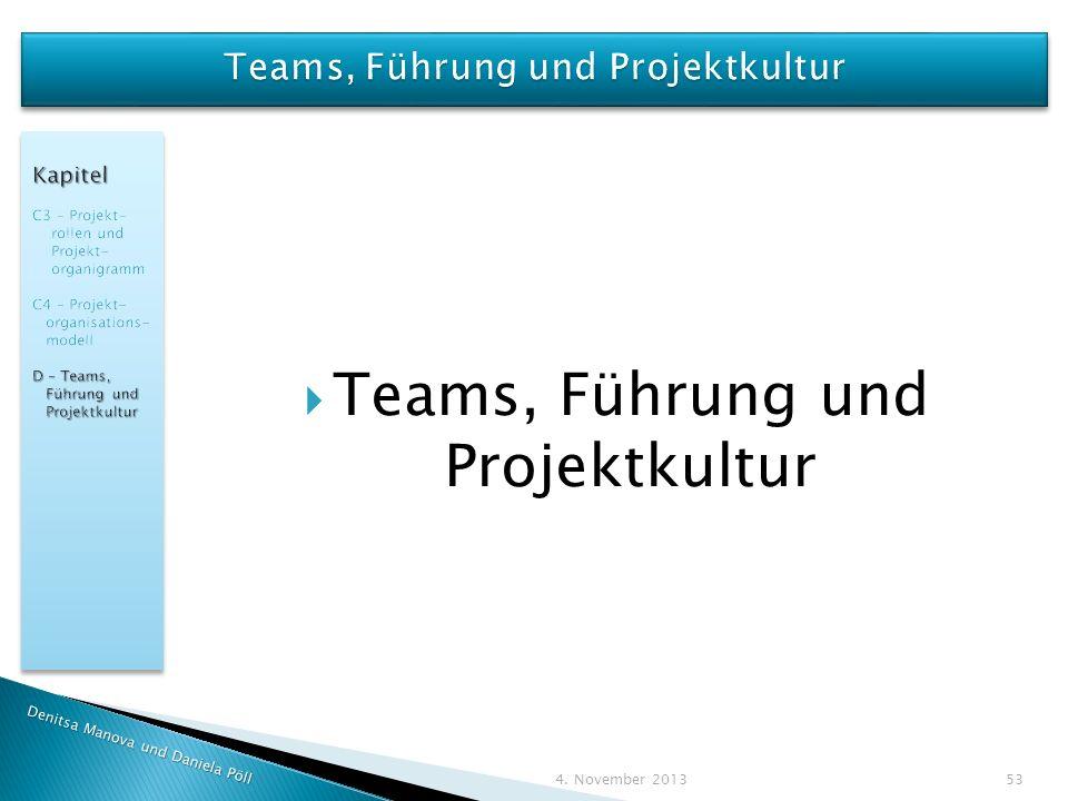 Teams, Führung und Projektkultur