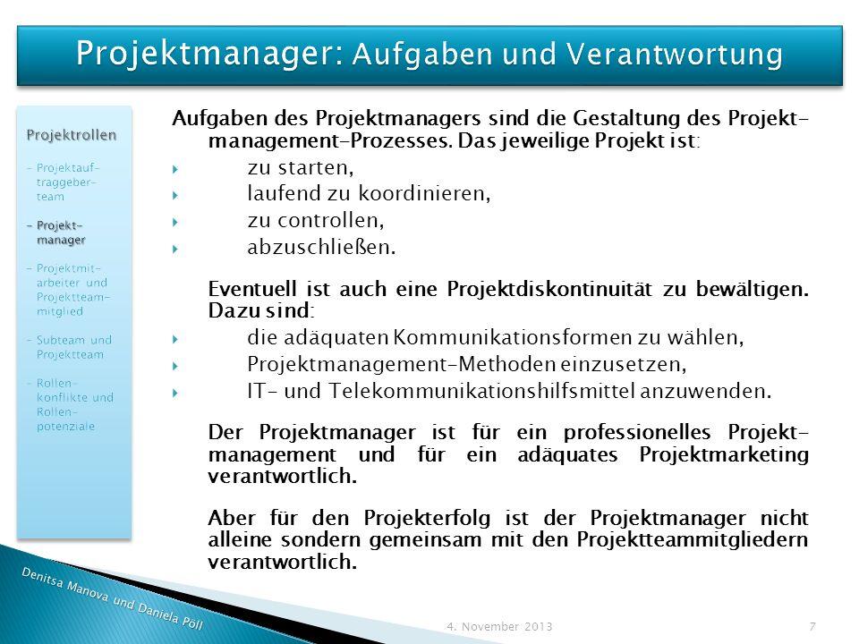 Projektmanager: Aufgaben und Verantwortung