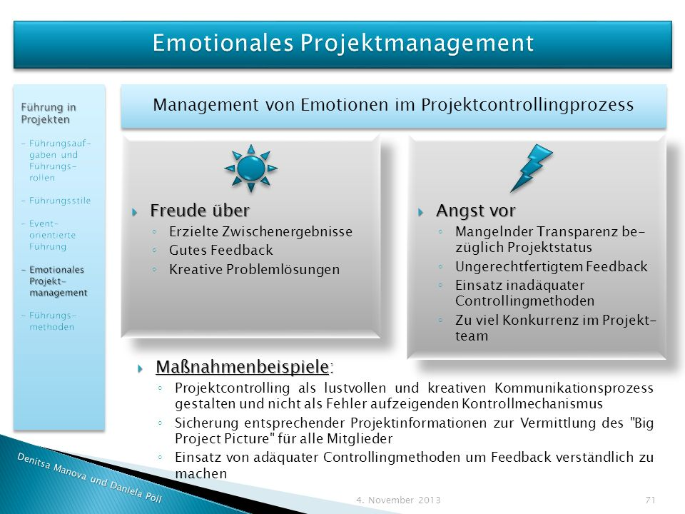 Emotionales Projektmanagement